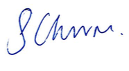 Sally Churm signature